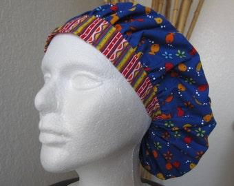 Classic Goldfish - 2Tone Bouffant Tie-back Surgical Scrub Hat