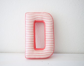 Fabric letter D or letter L