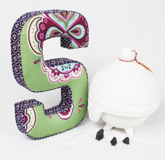 Fabric letter S and letter T - Handmade
