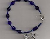 Cobalt Blue Rosary Bracelet