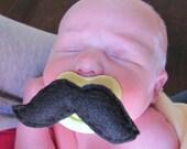 Pacifier Mustache Newborn to 6 months