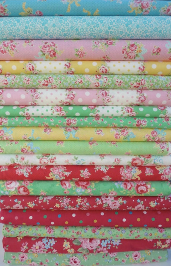 Fabric mixed bundle flower collection, 18 yards ,flower sugar, japanese import fabric