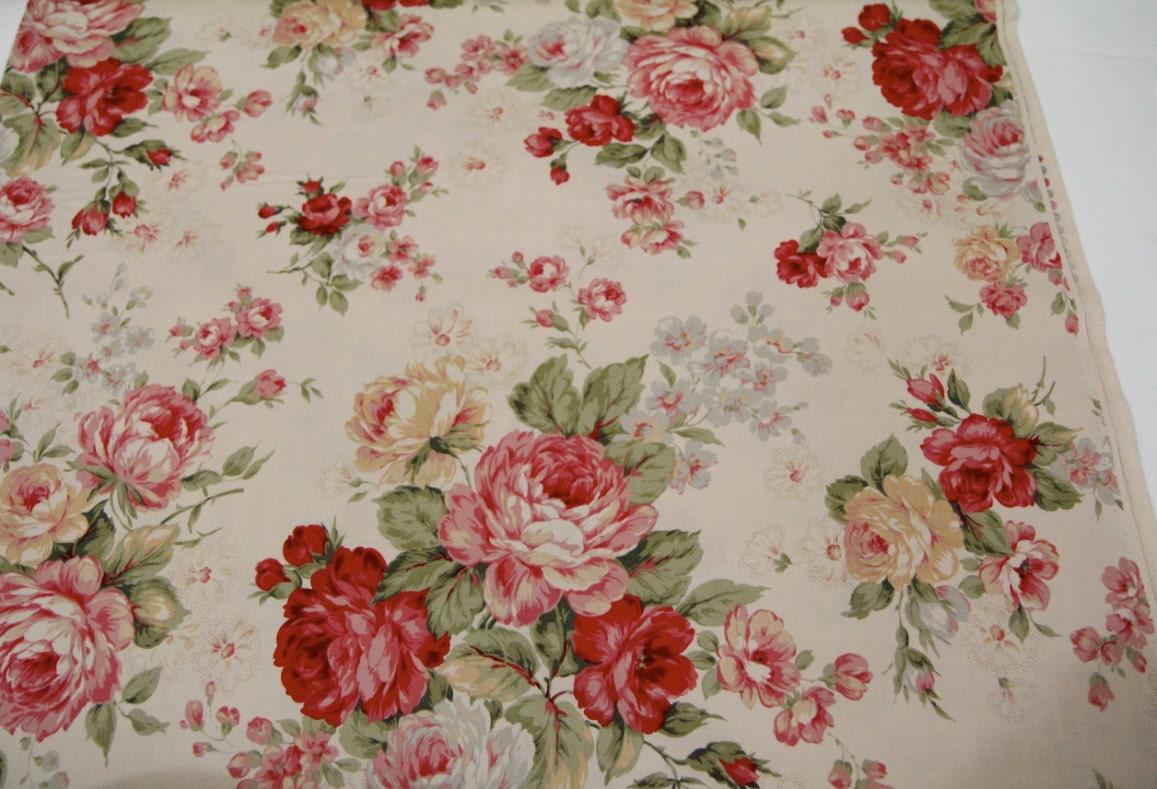Just Beautiful Fabric « Fabulous Vintage Blog |Vintage Floral Fabric