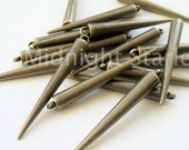 50 LARGE BRASS Spikes - Made of Acrylic - with Top Loop- Best Quality Available- FAST Shipping From United States