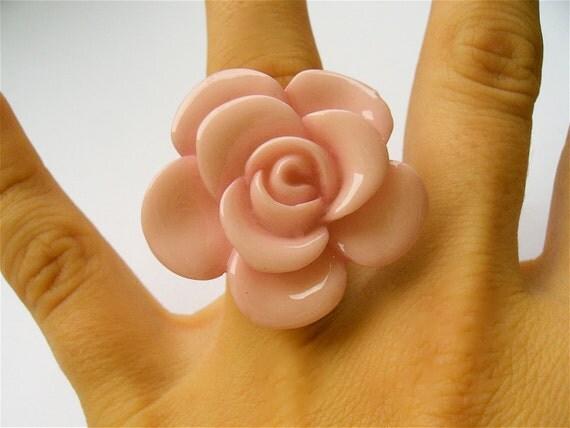 Sierra Rose Pastel Pink Cocktail Ring