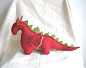 Reserved for Jessica - Dragon, organic, red dragon, green, waldorf, soft animal, toy, magical creature, fairy tale, fantasy