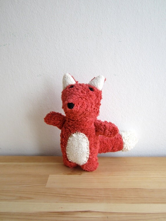 Reserved for Jessica - Fox, organic fox, red, white, plush, cuddly, soft, eco friendly, handmade, animal, toy, vegan
