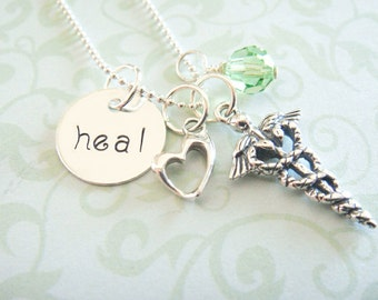 Nurse Hand Stamped Necklace - Hand Stamped Jewelry - Sterling Silver