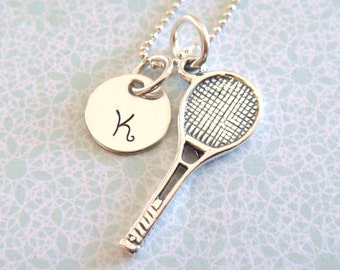 Tennis Necklace - Hand Stamped Jewelry - Sterling Silver