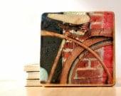 Set of 4 Vintage Bicycle Photo Coasters