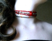 Bloodline--Four Strand Beaded Choker
