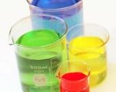 Set of Four Vintage Laboratory Beakers