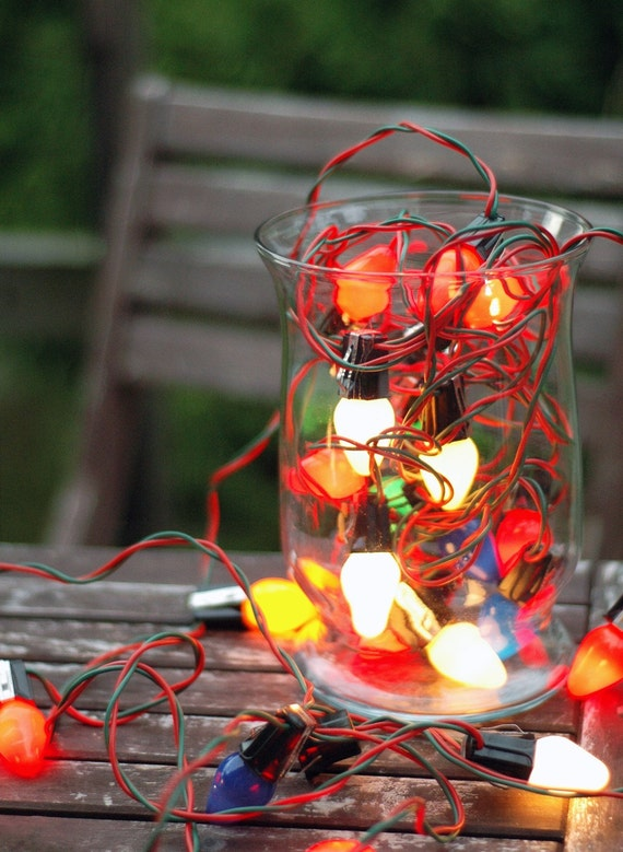 Retro Christmas String Lights : Vintage Christmas Tree String Lights
