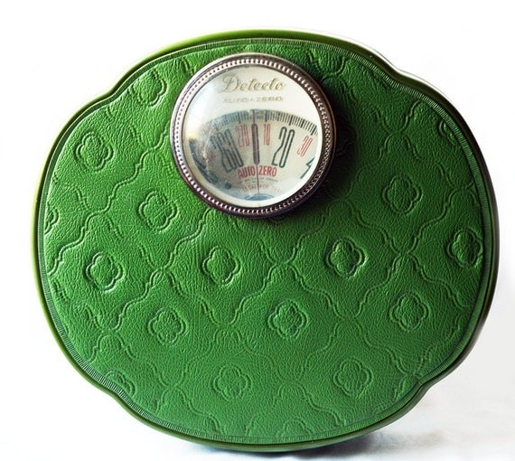 Vintage Retro Detecto Green Scale