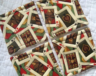 Playing Cards Quilted Coasters (Set of 4)