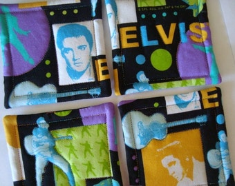 Elvis Quilted Coasters (Set of 4)