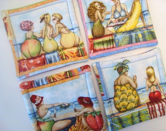 Bathing Beauty's Quilted Coasters (Set of 4)