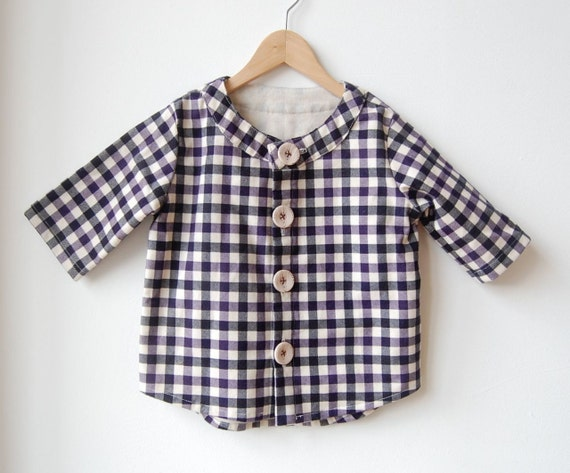 sale :  purple block 3/4 sleeve shirt 5T 6T