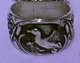 Duck Ring  Sterling Silver Free Shipping