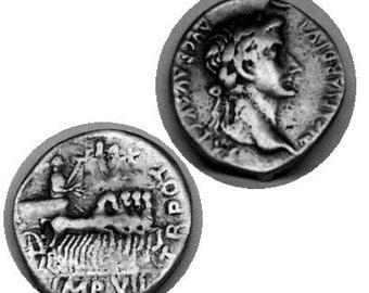REPRODUCTION DENARIUS COIN of Roman Emperor Tiberius Caesar  Free Shipping