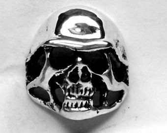 GERMAN Skull Ring Sterling Silver Free Shipping