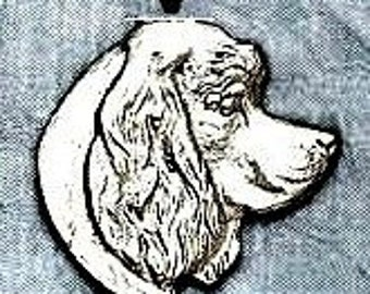 Large Cocker Spaniel Dog Pendant  Sterling Free Shipping