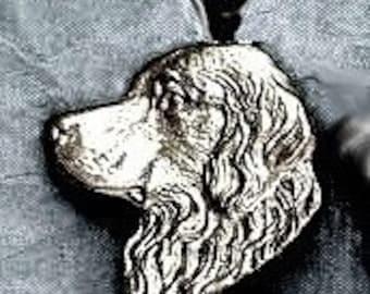 Large Golden Retriever Dog Pendant  Sterling Free Shipping