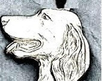Large Irish Setter Dog Pendant  Sterling Free Shipping