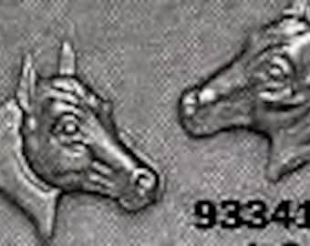 Horses Stud Earrings Sterling Silver Free Shipping