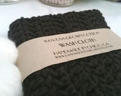 Dark Chocolate Brown Cotton Single Wash Cloth - Ships for 1.00 in USA BLACK FRIDAY ETSY