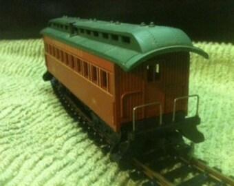 HO scale Circa 1860 Passenger Car 54 B P S & D Railroad 1970's vintage  train passenger trains Hobby railroad Tyco Mantua