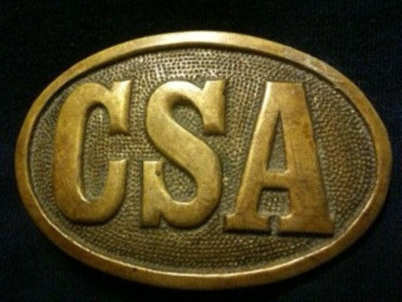 Vintage 1978 Brass Civil War Repro Of Csa Confederate Army