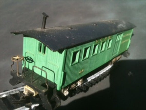 HO scale Circa 1860 Baggage Car 68 Georgia Central Rail Road 1970's vintage train passenger trains Hobby railroad Tyco Mantua