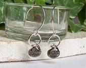 Teardrop Earrings sterling silver fossil