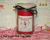 8oz Soy Jar Candle with Embeds - Shabby Pink Lid - Choose your scent