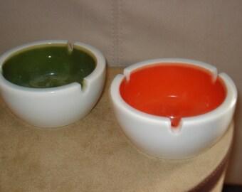 retro ashtrays