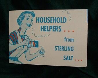 Vintage Sterling Salt Ad.