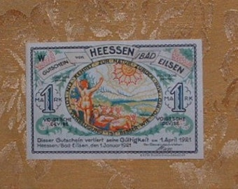 Vintage German Notgeld Emergency Currency.