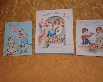 1940s Third Birthday Cards.