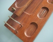 Clearance Vintage Two Tier Wood Office Desk Organizer