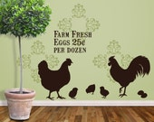 Farm Fresh Eggs - Vinyl Wall Decal - FREE SHIP