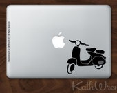 Vespa - Vinyl Macbook Laptop Decal - FREE Shipping