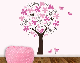 Flower Tree by KathWren - Vinyl Wall Decal