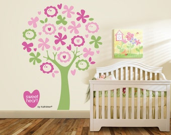 Sweetheart tree by KathWren - vinyl wall decal - FREE GIFT with purchase