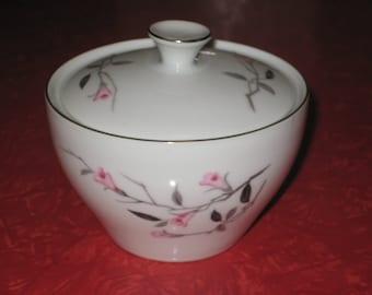 Japan Fine China Cherry  Blossom sugar bowl