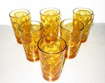 1960s Gold Juice Glasses