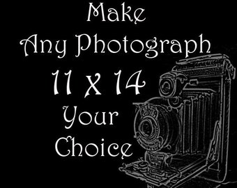 11 x 14 Personalize Your Order - You PIck the Photograph