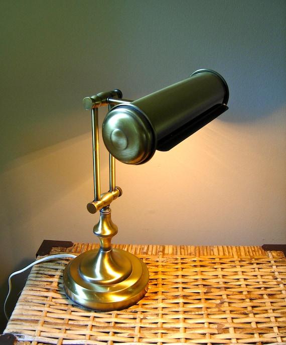 vintage brass desk lamp back to school. Black Bedroom Furniture Sets. Home Design Ideas