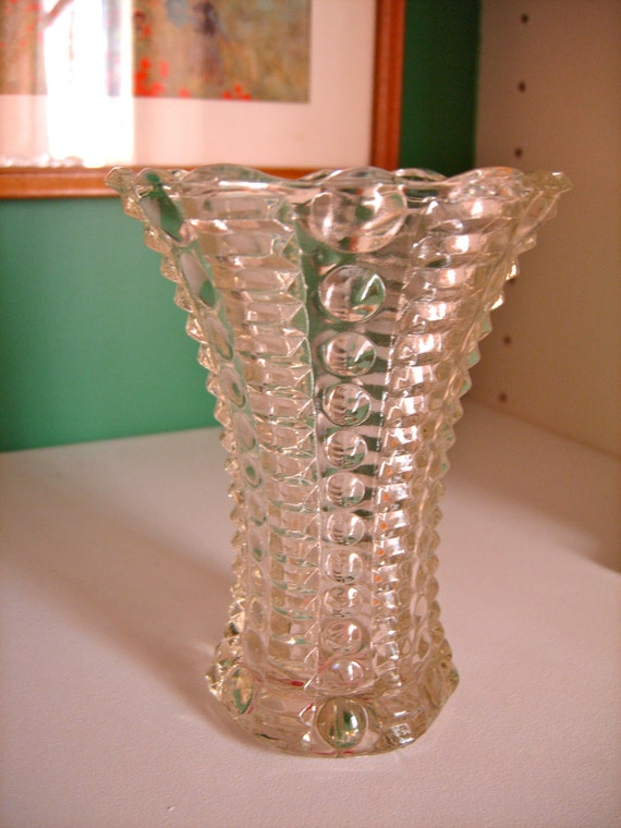 Vintage Mini Vase Clear Glass Bubbles Amp Ribs Five Dollar Sale