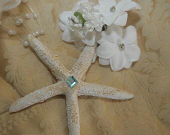 Starfish Hairpiece - Beach Wedding&Seashell Themed Wedding Accessories